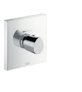 Brushed Chrome Thermostat HighFlow for concealed installation