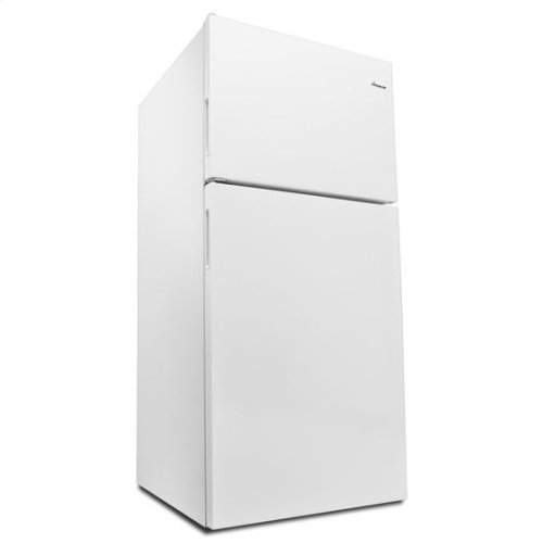 30-inch Amana® Top-Freezer Refrigerator with Glass Shelves - white