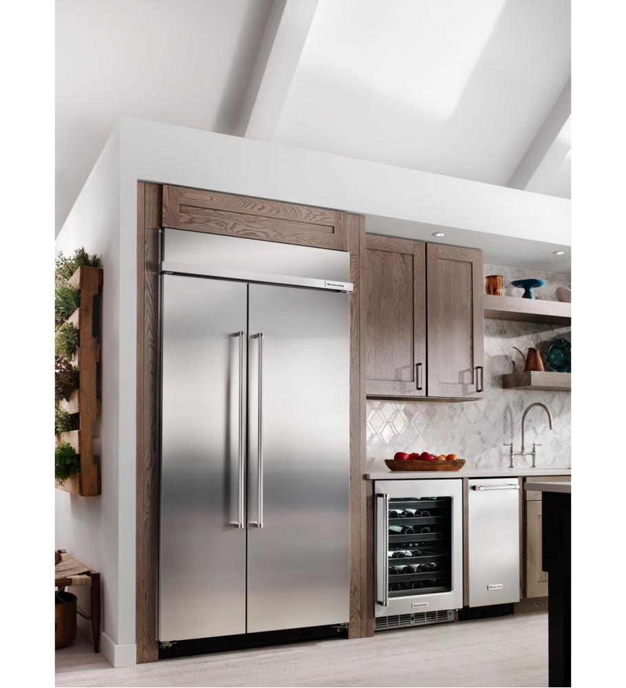 Kitchenaid 25.5 Cu. Ft 42 Inch Width Built In Side By Side Refrigerator