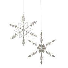 Snowflake Ornament. (2 pc. ppk.)
