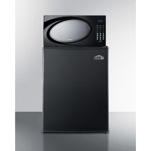 SummitRefrigerator-microwave Combination In Black With Compact Auto Defrost All-refrigerator