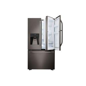 LG STUDIO 24 cu. ft. Smart wi-fi Enabled Door-in-Door® Counter-Depth Refrigerator - BLACK STAINLESS STEEL