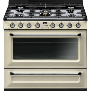 "SmegFree-standing All-Gas ""Victoria"" Range 36"" - Cream enamel"