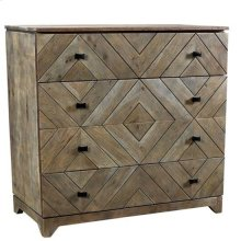 Bengal Manor Acacia Wood Diamond Pattern 4 Drawer Chest