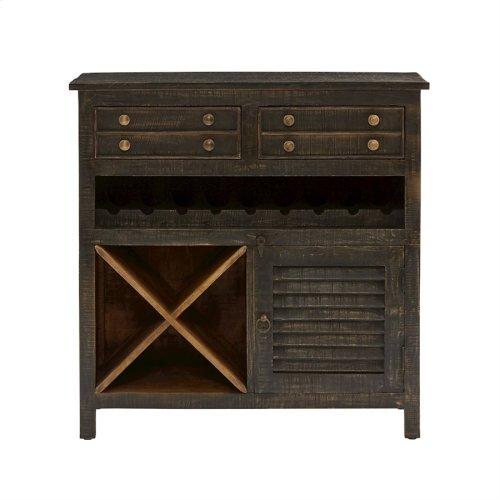 Tillman 1-door 2-drawer Wine Cabinet