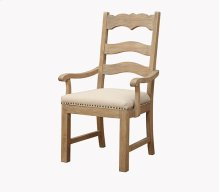 Barcelona - Ladderback Host Chair Uph Seat