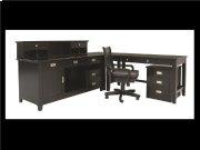 "Teton Bookcase Cabinet, Black, 45""x16""x23"",Overall 46""x17""x30"" Product Image"