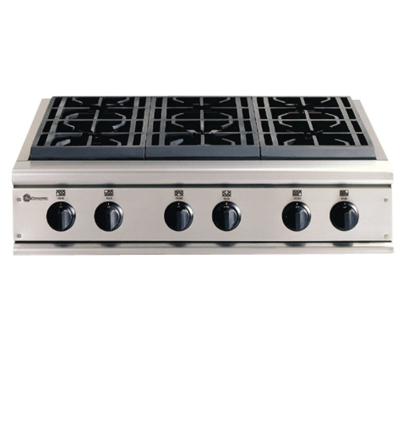 Ge Monogram 36 Professional Gas Cooktop With 6 Burners Liquid Propane