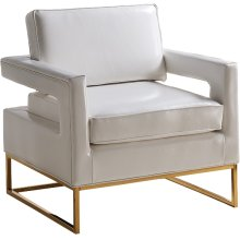 """Amelia Leather Accent Chair - 33.5"""" W x 29.5"""" D x 35.5"""" H"""