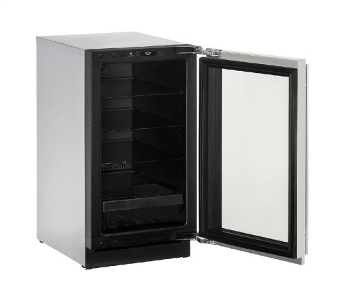 "Modular 3000 Series 18"" Glass Door Refrigerator With Stainless Frame Finish and Field Reversible Door Swing"