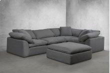 Sunset Trading Cloud Puff Slipcovered 5 Piece Modular Sectional Sofa - 391094