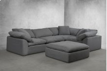 Sunset Trading Cloud Puff Slipcovered 5 Piece Modular Sectional Sofa - 391094