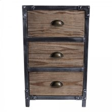 Armen Living Nyx Industrial End Table