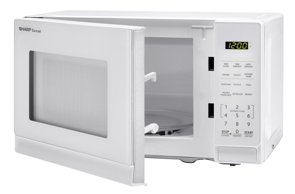 Smc0710bw Sharp Appliances 0 7 Cu Ft 700w Sharp White