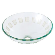 Round clear & sculptured tempered glass basin