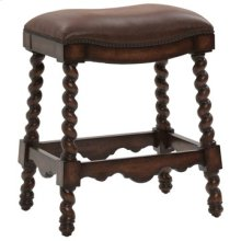 Coventry Counter Stool - Dark Leather