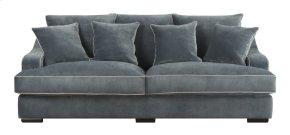 Emerald Home Caresse Sofa W/4 Pillows Marine Dark Brown Legs U3174-00-08