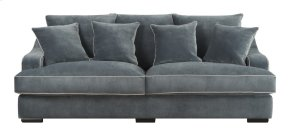 Emerald Home Caresse Sofa W/4 Pillows Marine Dark Brown Legs U3174-00-08