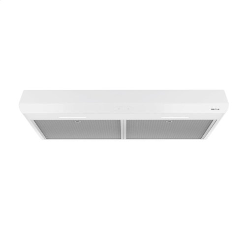 Sahale 30-inch 250 CFM White Range Hood with LED light