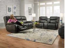 Velocity Double Reclining Console Sofa with Power Headrest