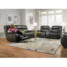 Power Reclining Console Sofa with Power Headrest Upgrade