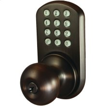 Touchpad Electronic Doorknob (Oil Rubbed Bronze)