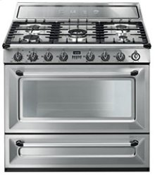 """Free-standing Dual Fuel Cavity """"Victoria"""" Range Approx. 36"""" Stainless Steel"""