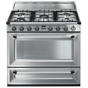 "SmegFree-standing Dual Fuel Cavity ""Victoria"" Range Approx. 36"" Stainless Steel"