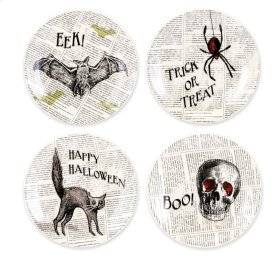 Apothescary Halloween Plates 4 in Gift Box