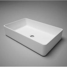 """metrix blustone™ rectangular countertop basin, white matte, 20"""" l x 14 1/2"""" w x 5"""" h"""