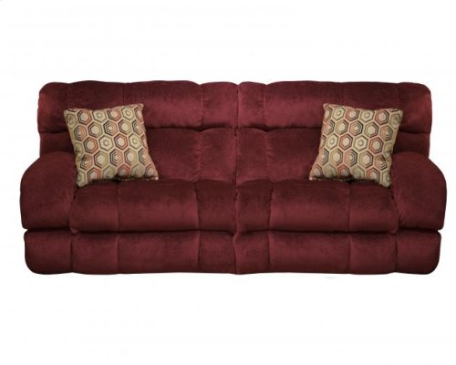 """Lay Flat"" Recl Sofa - Wine"