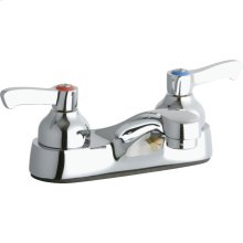 """Elkay 4"""" Centerset with Exposed Deck Faucet Integral Spout 2"""" Lever Handles"""