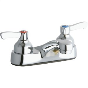 """Elkay 4"""" Centerset with Exposed Deck Faucet Integral Spout 2"""" Lever Handles Product Image"""