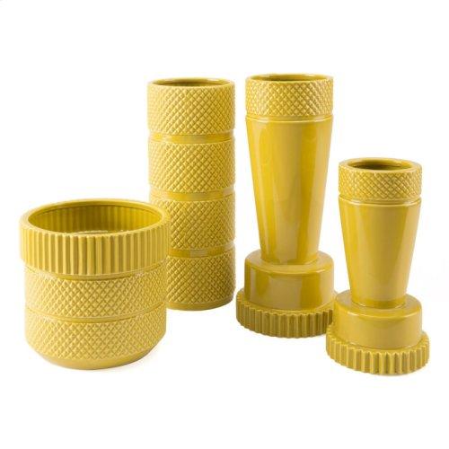 Inca Vase Sm Yellow