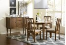Round Dining Table - Cinnamon Finish Product Image
