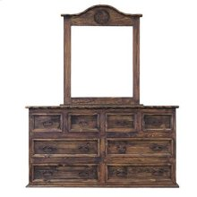 """Dresser : 65"""" x 21"""" x 36"""" Dresser 8 Drawer with Rope and Star Medio Finish"""
