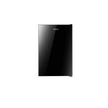 4.4 cu.ft. - 4.4 cu.ft. black glass door refrigerator