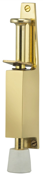 Plunger Door Holder in US3 (Polished Brass, Lacquered)