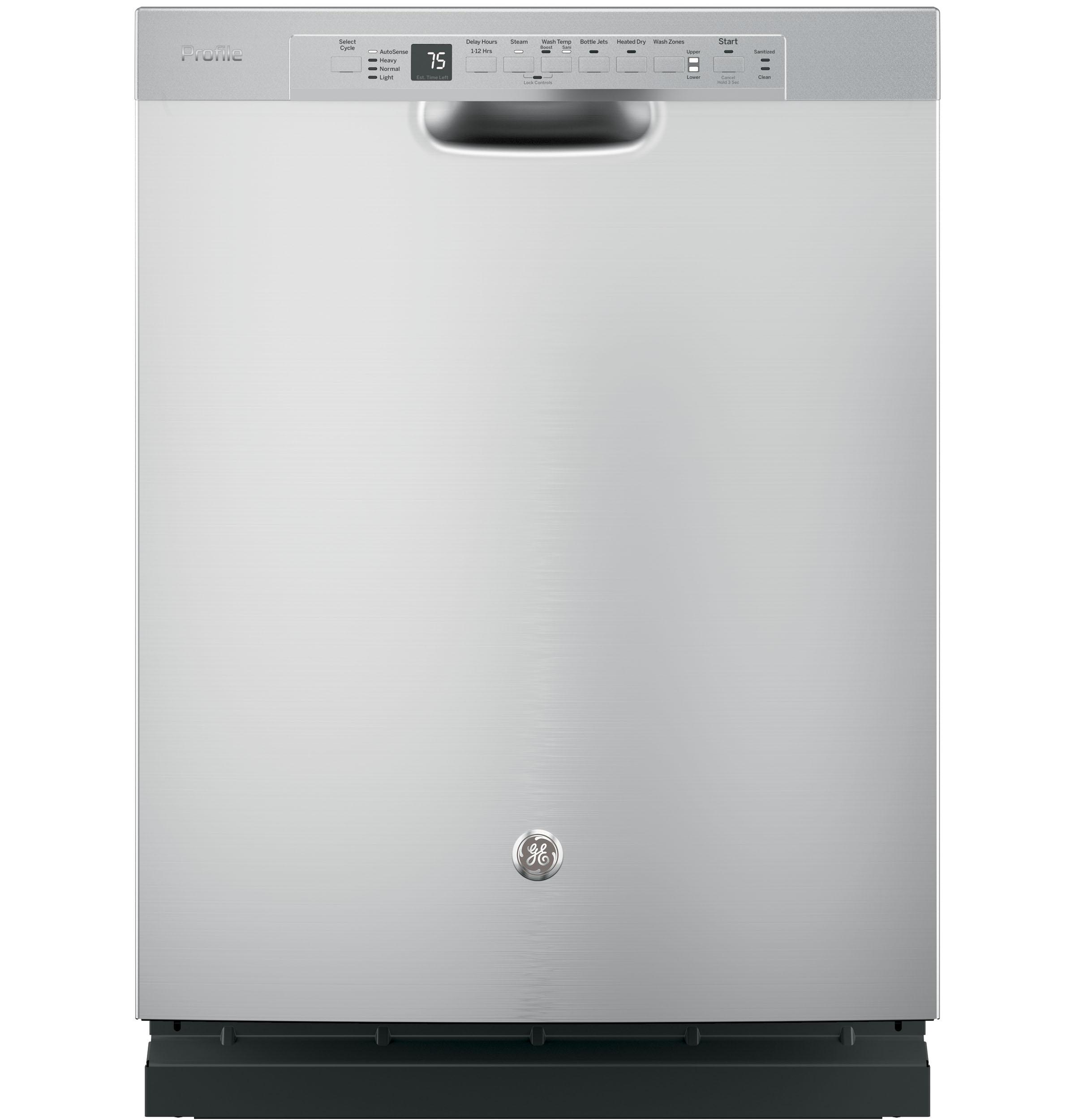Ge profile stainless steel interior dishwasher with - Dishwasher with stainless steel interior ...