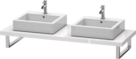 Console For Above-counter Basin And Vanity Basin, White Lilac High Gloss Lacquer