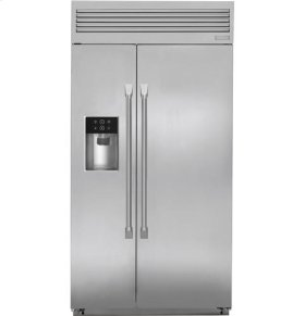 """42"""" Built-In Professional Side-By-Side Refrigerator with Dispenser"""