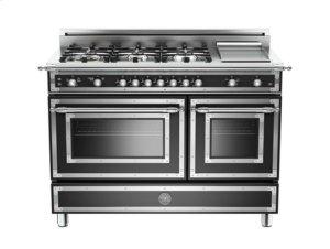 Matt-black 48 6-Burner, Gas Double Oven