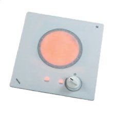 120V single burner cooktop with white ceramic glass surface