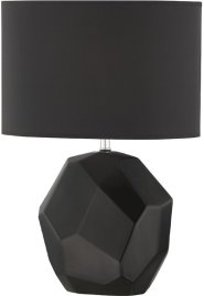 Table Lamp, Black Ceramic Body/black Fabric,e27 Cfl 13w Product Image