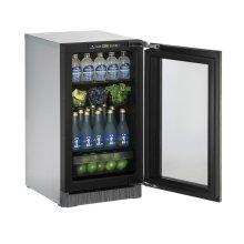 "18"" Glass Door Refrigerator Integrated Frame Right-Hand Hinge"