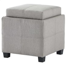 Luxy Square Storage Ottoman in Light Grey