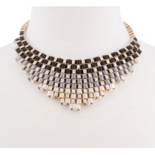 BTQ Gold Laced Strap Necklace