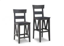 """Chattanooga 24"""" Counter Chair With Fabric/Bonded Leather Seat"""