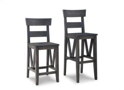 "Chattanooga 24"" Counter Chair With Wood Seat"