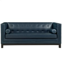 Imperial Bonded Leather Sofa in Blue